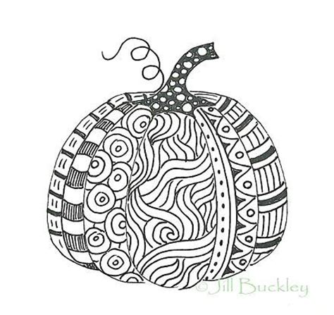 zentangle pumpkin printable great idea for doing with my kiddo seasonal patterns a