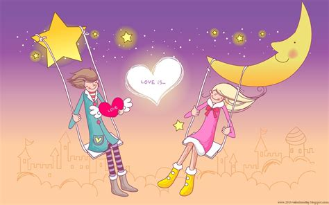 wallpaper cartoon love hd cute cartoon couple love hd wallpapers for valentines day
