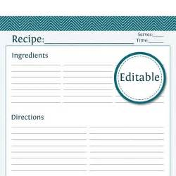 recipe template pdf recipe card page editable printable pdf by organizelife