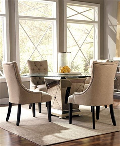 Mirrored Dining Room Set by Marais Dining Room Furniture 5 Set 54 Quot Mirrored