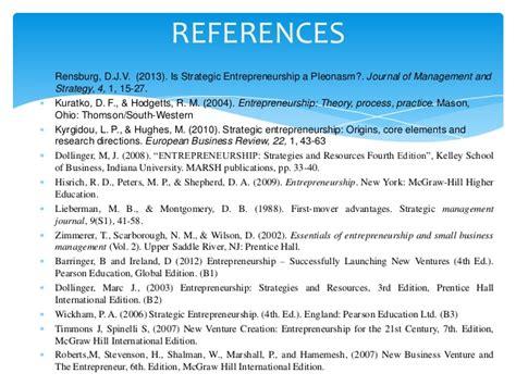 Mba Strategy And Entrepreneurship by Strategic Entrepreneurship Topic 1