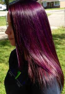 reddish purple hair color and violet highlights purple highlights w a