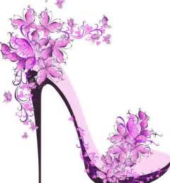 free creative violet floral high heeled shoes vector titanui