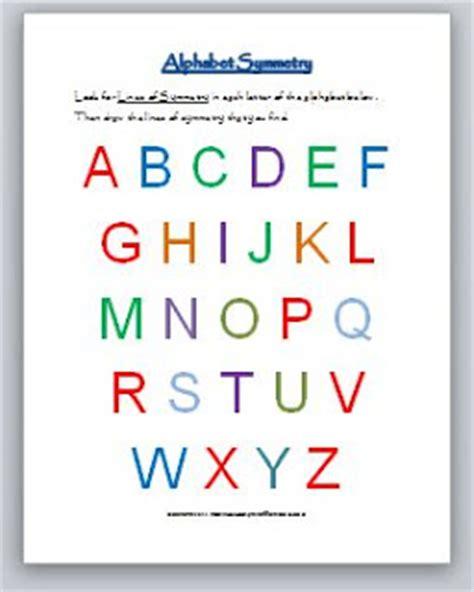 learning ideas grades   geometry alphabet symmetry