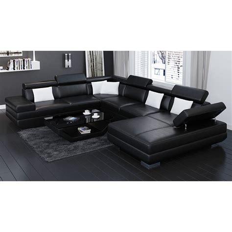 big black sofa