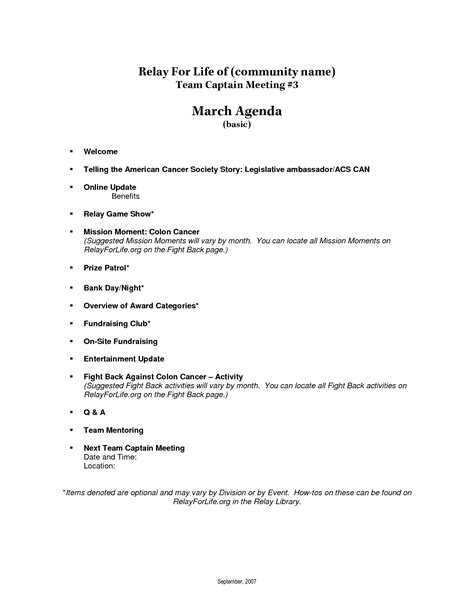 10 best images of basic agenda template basic meeting