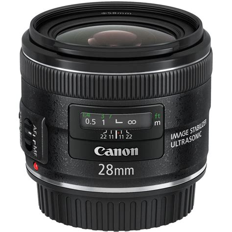 Canon Lens Ef 28mm F2 8 Is Usm canon ef 28mm f 2 8 is usm lens 5179b002 b h photo