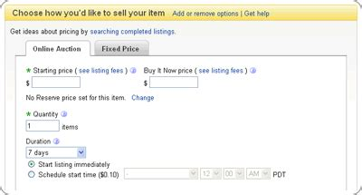 ebay fees uk selling using a fixed price