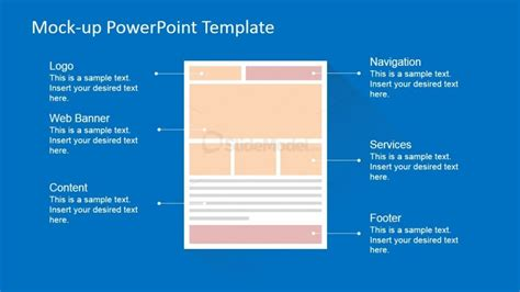 powerpoint templates for web pages generic ecommerce landing page powerpoint mock up slidemodel