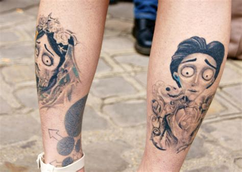 tim burton tattoo noir version i tim burton