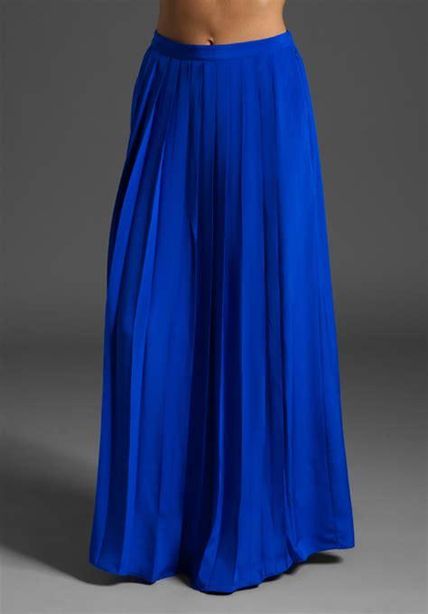 tibi classic silk skirt in blue lyst