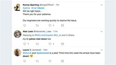email yahoo down yahoo mail down web email service still not working for