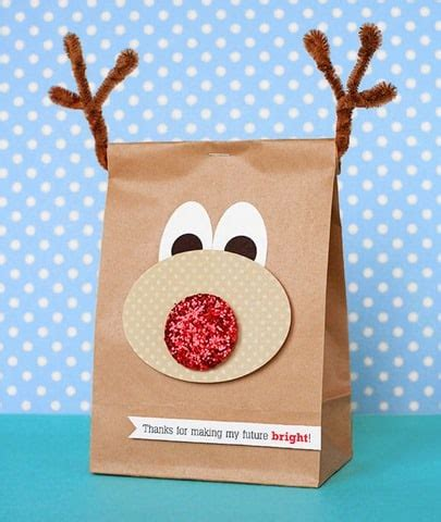 xmas decorated brown paper bags pretty packaging for foodie gifts cook clean craft