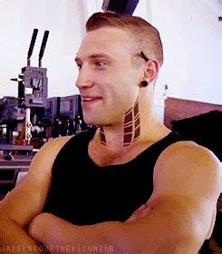 neck tattoo gif jai courtney as eric in divergent i didn t think i d ever