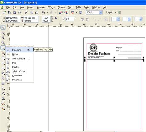 cara membuat nota invoice cara membuat nota di coreldraw