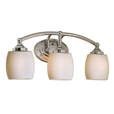 Shop Style Selections Calpin 3 Light 9 02 In Chrome Vanity Chrome Bathroom Vanity Lights