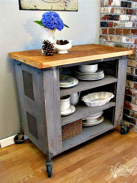kitchen cart ideas 30 rustic diy kitchen island ideas