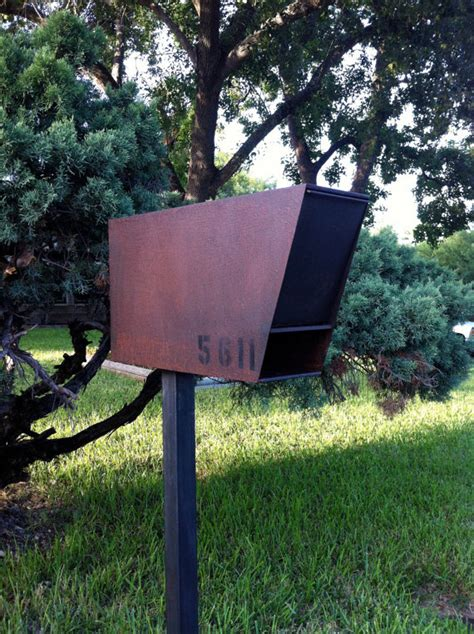 contemporary mailboxes mailbox steel modern industrial chic contemporary