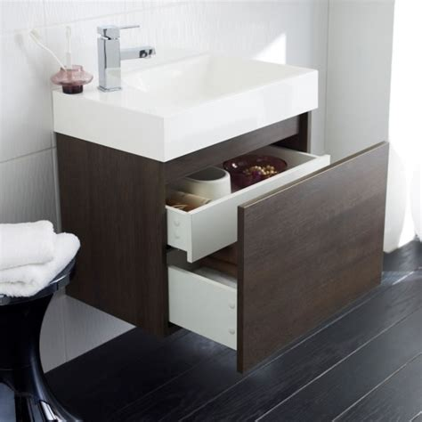 Bathroom Basin Furniture 600mm Bathroom Vanity Unit Basin Sink Cabinet Wall Hung Oak Storage Furniture Ebay