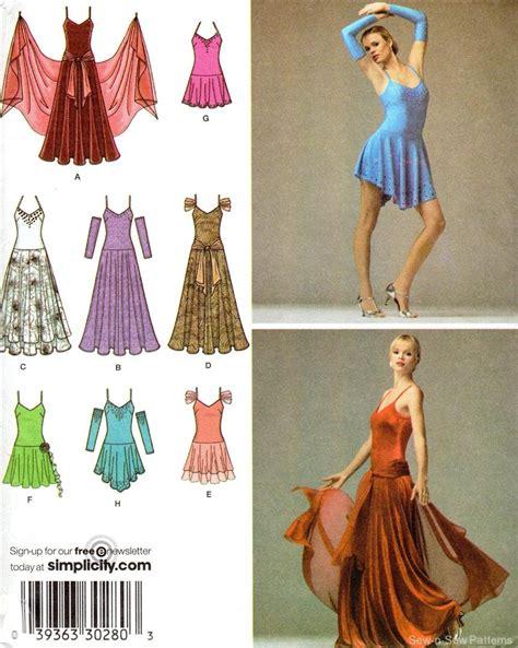 pattern latin dress simplicity 3912 uncut pattern 12 20 ballroom dance dress