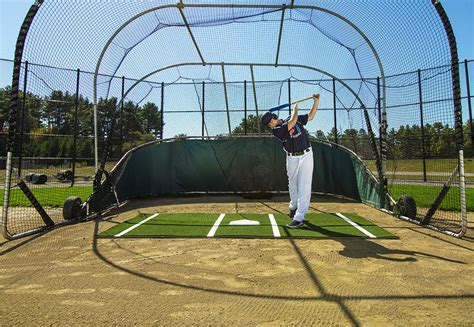 cable baseball swings batting mat pro by promounds 12 x 6 lined florida net