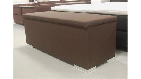 sitzbank truhe chest schlafzimmer stoff in dunkelbraun