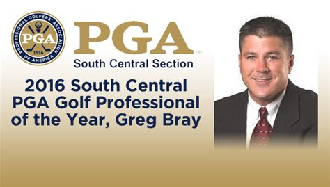 pga south central section bray is south central pga professional of the year golf