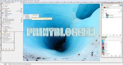 gimp visitenkarten tutorial freitagstutorial eis texteffekt in gimp 187 saxoprint blog