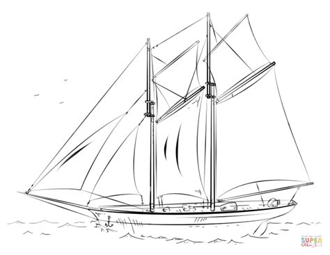 how to draw a cargo boat sailing ship coloring page free printable coloring pages