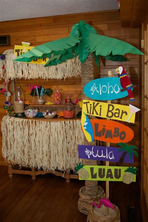 luau hawaiian birthday party ideas luau decoration
