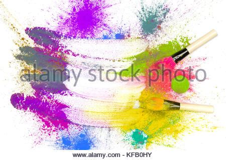 colorful bright green paint splash background with a band