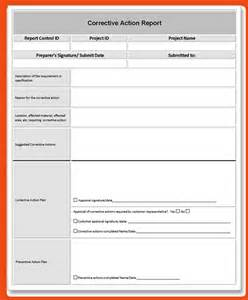 Corrective Action Report Form Template pin corrective action report form template on pinterest