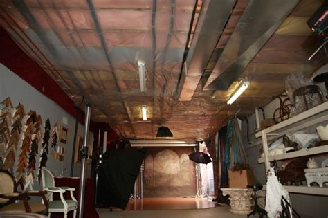 inspiration idea unfinished basement ceiling fabric ceiling becomes beautiful with