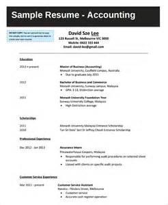 resume template monash university