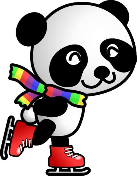 panda clipart skating panda clip at clker vector clip