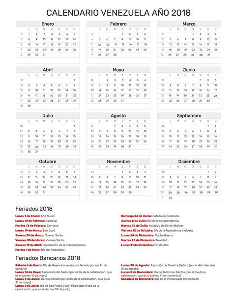 Calendario 2018 Para Imprimir Con Feriados Calendario A 241 O 2018 Feriados