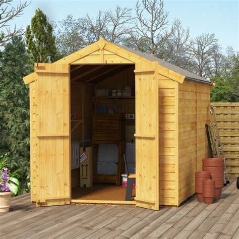 billyoh keeper overlap apex shed garden sheds garden buildings direct