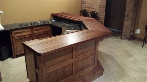 Bar Top Finishes by Ribbon Mahogany Bar Top Finish Is Satin Waterlox