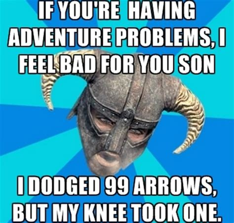 Arrow To The Knee Meme - skyrim meme arrow knee www pixshark com images
