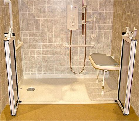 accessible showers bathroom accessible barrier free wet room shower systems cleveland