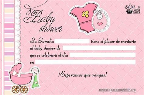 tarjetas de invitacion para imprimir baby shower gratis tarjetas baby shower para llenar e imprimir tarjetas