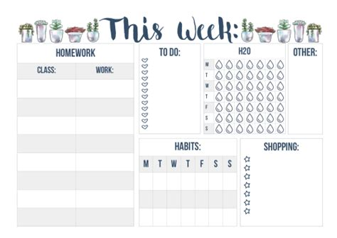 daily planner printables tumblr printable blog planner tumblr
