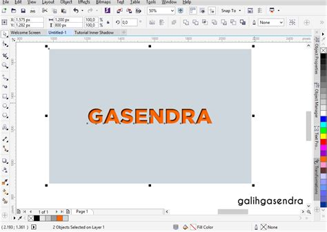 Tutorial Hand Lettering Corel Draw | coreldraw tutorial inner shadow text effect galih gasendra