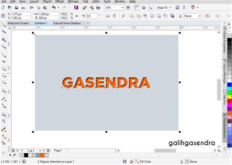 corel draw x7 effects coreldraw tutorial inner shadow text effect galih gasendra