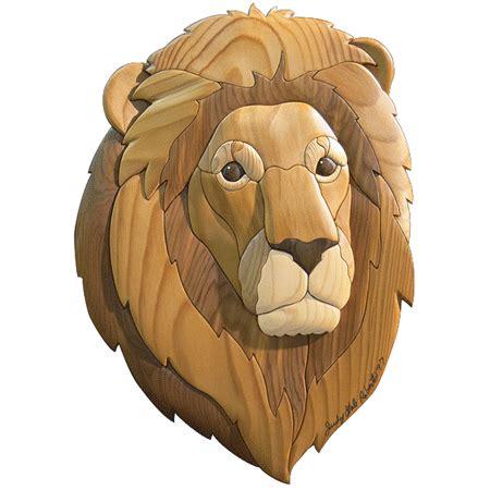 lion intarsia pattern workshop supply