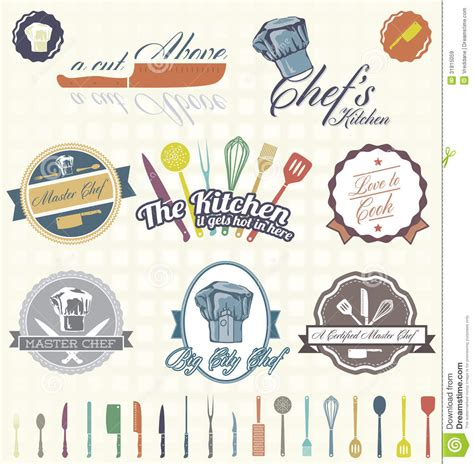 retro style pet icons set vector free download vector set retro chef labels and icons royalty free stock