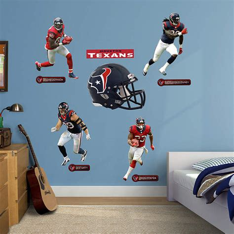 Texans Wall Decor by Size Houston Texans Power Pack Wall Decal Shop