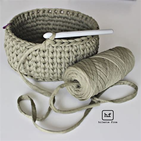 crochet pattern for yarn basket crochet basket with t shirt yarn 4u hilariafina http www