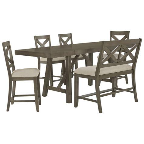 bench omaha city furniture omaha gray high table 4 barstools high
