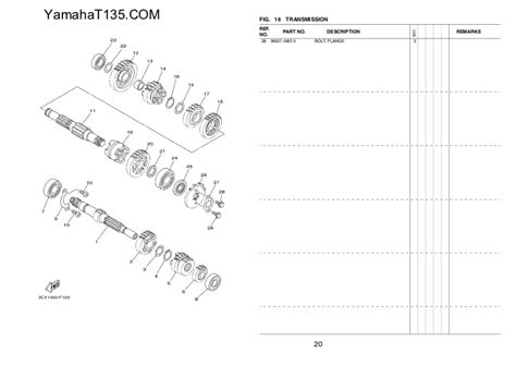 Spare Part Yamaha Mx 135 58546102 2011 yamaha t135 parts catalog
